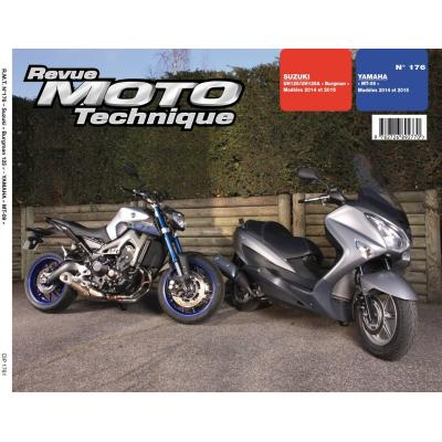 Revue Moto Technique 176 Suzuki Burgman 125 14-15 / Yamaha MT-09 14-15