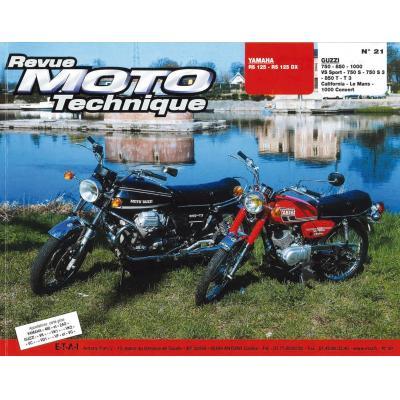 Revue Moto Technique 21 Yamaha 125 RS-DX / Moto Guzzi V7-750S-850T-1000