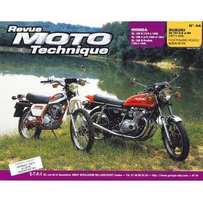 Revue Moto Technique 34 Honda XL 125 S-XR-XLR / Suzuki GS 750 D-E-N