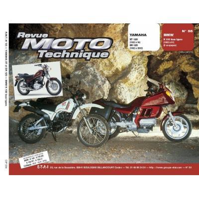Revue Moto Technique 55.4 Yamaha 125 XT-SR / BMW K 100 (tous types 83-91)