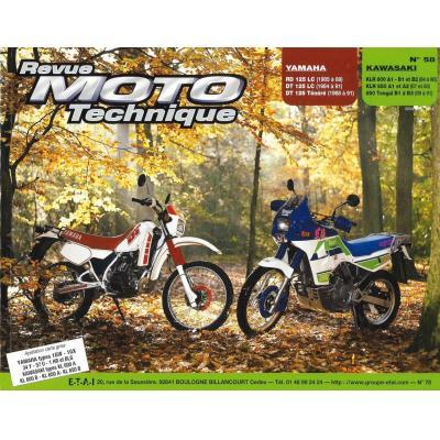 Revue Moto Technique 58.1 Yamaha 125RD-LC-DT-Ténéré / Kawasaki KLR 600-650