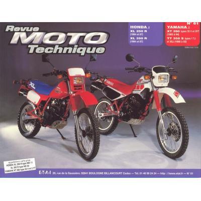 Revue Moto Technique 61.2 Honda XLR 250-350RFVC / Yamaha XT 350-TT 350