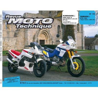 Revue Moto Technique 76 Kawasaki GPZ 500S / Yamaha XTZ 750 S Ténéré