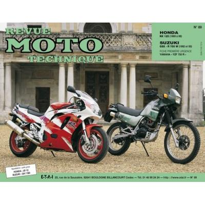 Revue Moto Technique 89.2 Honda NX 125 89-93 / Suzuki GSX-R 750 92-93