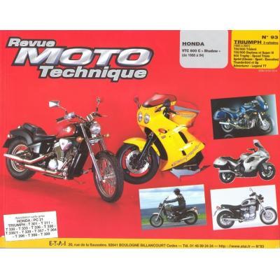Revue Moto Technique 93.2 Honda VT 600 / Triumph 750-900