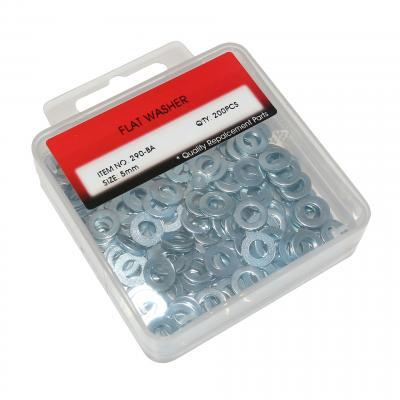 Rondelles plates acier D.5 mm par 200 pièces