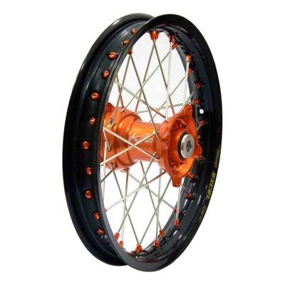 Roue arrière noire moyeu orange Kite Elite MC 1,85'' x 14'' KTM 85 SX petites roues 12-21