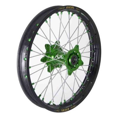 Roue arrière noire moyeu vert Kite Elite MX-EN 1,85''x19'' pour Kawasaki KX 250 F 04-19