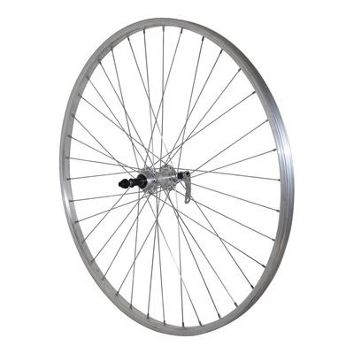 Roue arrière vélo City Velox 700x35 à roue libre 6-7 vitesses et freinage sur jante