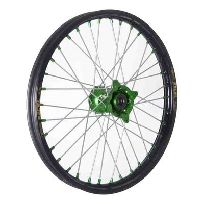 Roue avant noire moyeu vert Kite Elite MC 1,60'' x 19'' Kawasaki KX 85 grandes roues 17-21