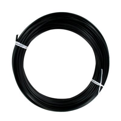 Rouleau de 25 mètres de gaine fil plat 5mm Noire avec téflon - Ø25/10
