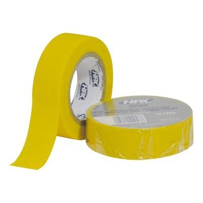 Ruban adhésif isolant jaune 19mm x 10m