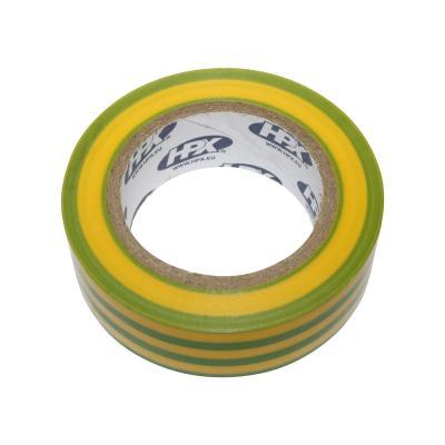 Ruban adhésif isolant jaune/vert 19mm x 10m