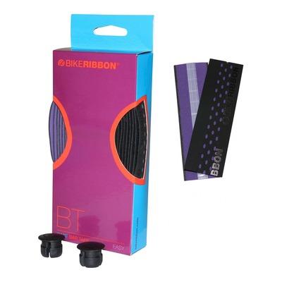 Ruban de guidon vélo BikeRibbon Drop noir/violet