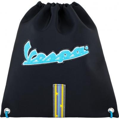 Sac à casque Vespa V-Stripes noir/bleu