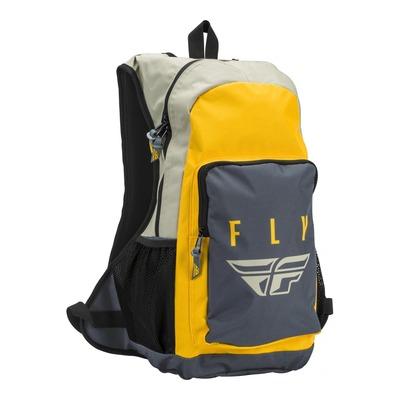 Sac à dos Fly Racing Jump blanc/noir/jaune