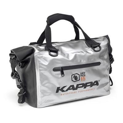 Sac cargo étanche Kappa WA406S 15 Litres noir/argent