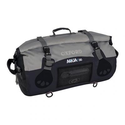 Sac de selle à rouleaux Oxford Aqua T-50 gris/noir 50L
