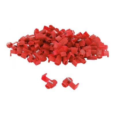 Sachet de 100 cosses électrique connecteur rapide clipsable rouge