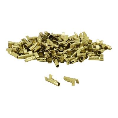 Sachet de 100 cosses électrique cylindrique mâle Ø 4mm