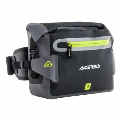 Sacoche à outils Acerbis No Water 4L noir/gris/jaune fluo