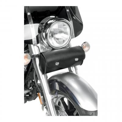 Sacoche de fourche Willie & Max cuir synthétique noir fermeture par 1/4 tours