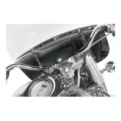 Sacoche de guidon Willie & Max cuir synthétique noir fermeture système 1/4 tours