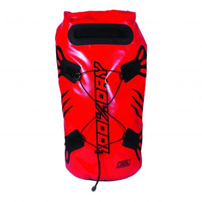 Sacoche de selle Darts Tube 100% Dry 30L Rouge