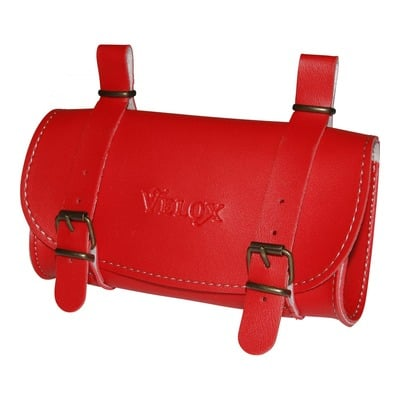 Sacoche de selle vélo Velox Vintage Classic rouge