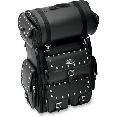 Sacoche de sissy bar Saddlemen EX2200S noire cloutée