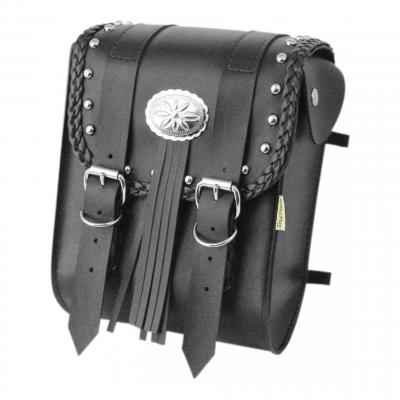 Sacoche de sissybar Willie & Max modèle Warrior double boucles concho chrome