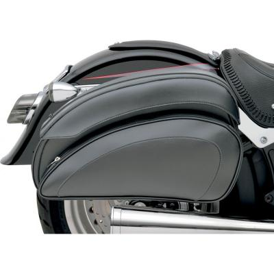 Sacoches latérales Saddlemen Cruis'N Deluxe noires avec supports universels
