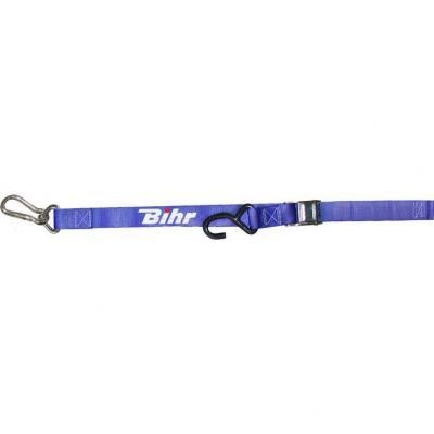 Sangles à boucle Bihr bleue avec crochet et mousqueton
