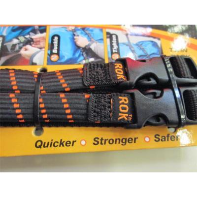 Sangles à clips Rok Stretch noires / oranges 106 cm