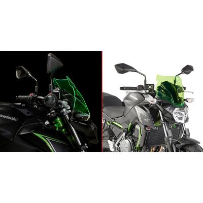 Saute vent Givi Lime Kawasaki Z650 17-18 vert transparent