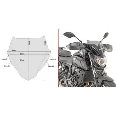 Saute vent Givi Yamaha MT-07 2018 fumé
