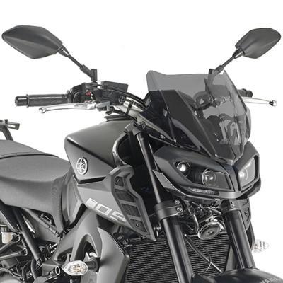 Saute vent Givi Yamaha MT-09 2017 fumé
