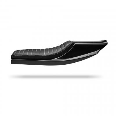 Selle flat track C. Racer SCR14 noire coutures blanches