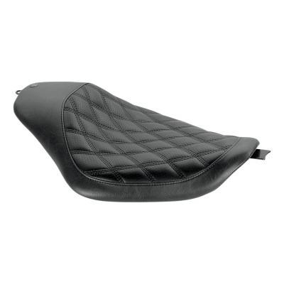 Selle mono Roland Sands Design coutures losanges 32cm x 37 cm noir