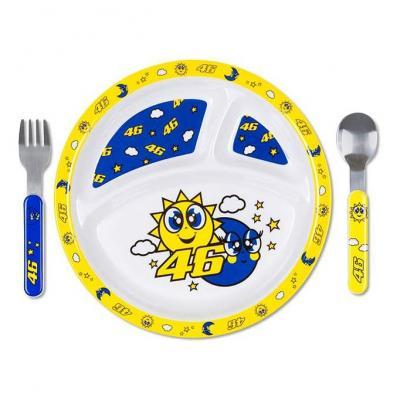 Set assiette couverts bébé VR46 Sun & Moon