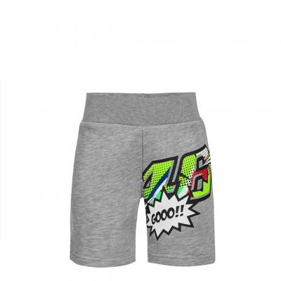 Short enfant VR46 Valentino Rossi Pop Art gris 2019
