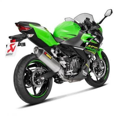 Silencieux Akrapovic inox embout carbone Kawasaki Ninja 400 18-19