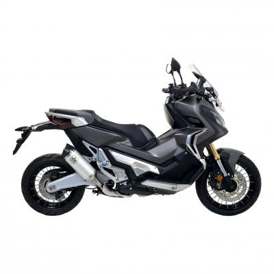 Silencieux Arrow Race-Tech court aluminium embout carbone Honda X-ADV 750 17-19