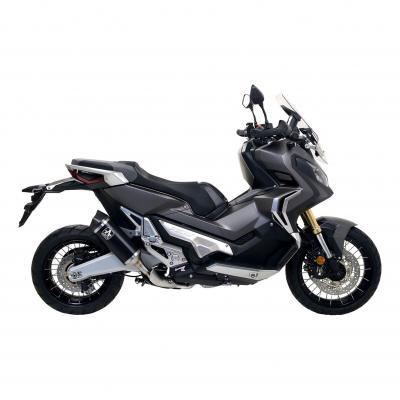 Silencieux Arrow Race-Tech court aluminium noir embout carbone Honda X-ADV 750 17-19