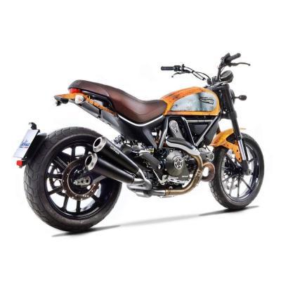 Silencieux Leovince GP Duals inox catalysée Ducati Scrambler 800 15-16