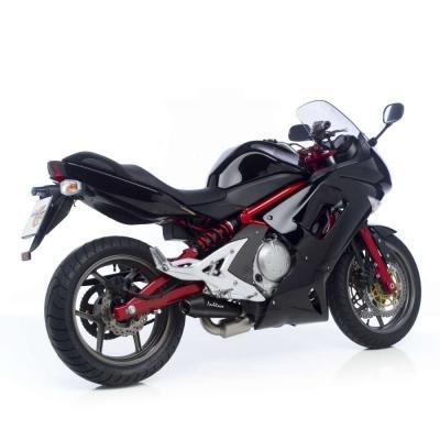 Silencieux Leovince GP Style inox noir Kawasaki Versys 650 07-14