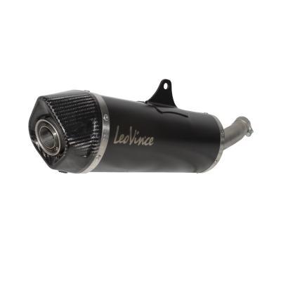 Silencieux Leovince Nero inox noir casquette carbone pour Yamaha X-Max 400 13-16