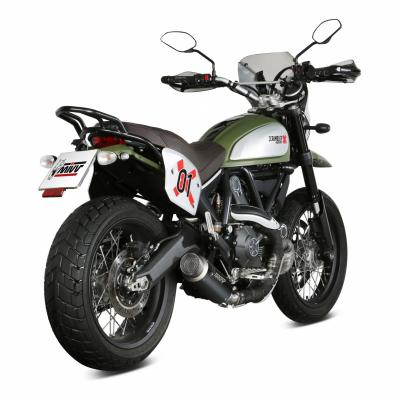 Silencieux Mivv GP Pro inox noir Ducati Scrambler 800 15-19