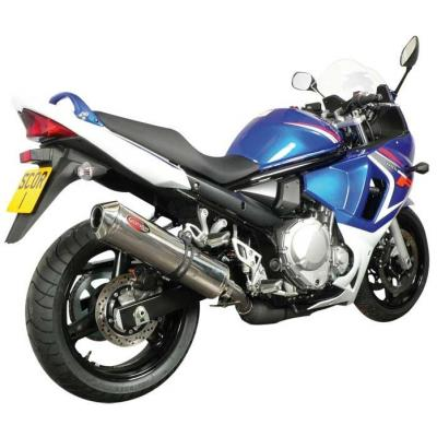 Silencieux Scorpion Factory Ovale Inox pour Suzuki Bandit 650 07-16 / GSX650F 08-16