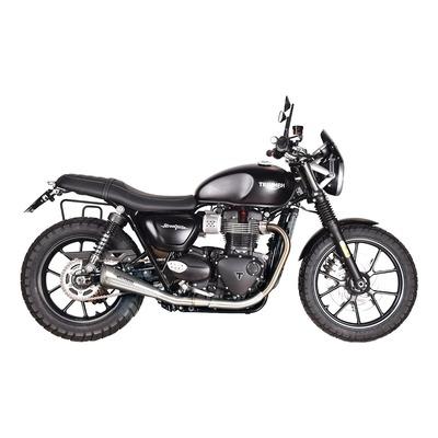 Silencieux Spark 60'S inox noir Triumph Street Twin 900 17-18